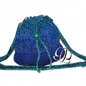 blau-grüne Beuteltasche