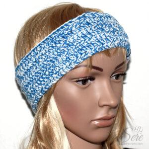 Stirnband Blau-Weiss