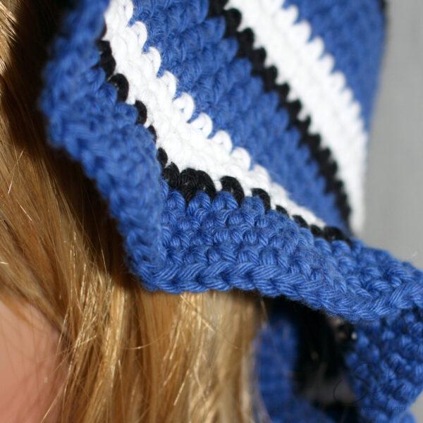 gehäkelter Hut, weitere Details